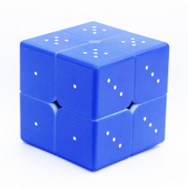 Blind Fingerprint 3D Embossed 2x2 Magic Cube - Blue