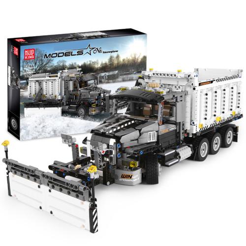 1694Pcs MOC DIY Snowplow Small Particle Building Block Bricks Static Version