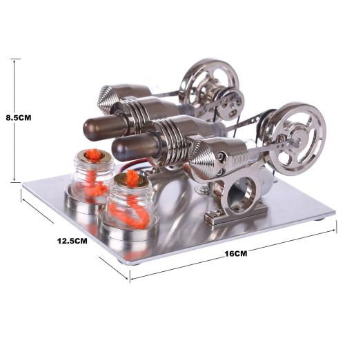 Custom Stirling Engine with Voltage Digital Display Meter Bulb
