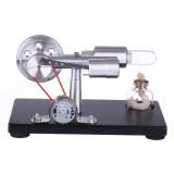 γ-shape Stirling Engine Model with LED Lights