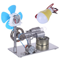 Single Cylinder Stirling Engine Model with Bulb and Fan