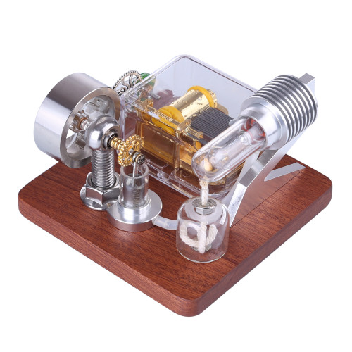 Rotating Stirling Engine Model+Mechanical Music Box