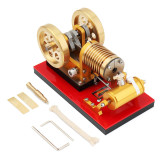Custom Pure Copper Suction Fire Type Stirling Engine - Yellow
