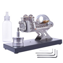 DIY Hot Gas Turbine Steam All-metal Vacuum Stirling Engine