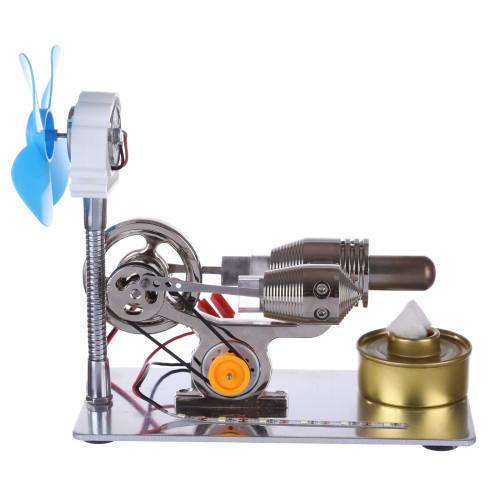 γ-Type Stirling Engine with LED Light Bar and Fan