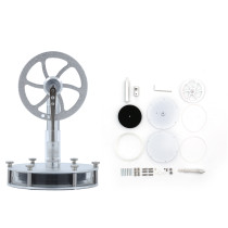 DIY Single Link Structure Low Temperature Stirling Engine (Magnetic Connection Type)