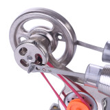 Stainless Steel Air Cylinder Sterling Steam Stirling Engine