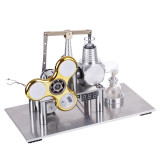 Balance Type Stirling Engine Model with Luminous Gyroscope Bulb