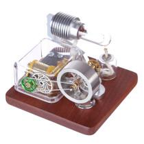 Rotating Stirling Engine Model+Mechanical Music Box