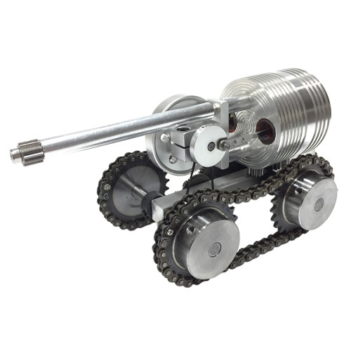 Launchable Metal Tank Stirling External Combustion Engine
