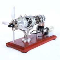 16 Cylinder Hot Stirling Engine Model with Swash Plate Glass