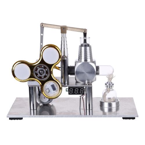 Balance Type Stirling Engine Model with Luminous Gyroscope Bulb