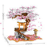 1814+Pcs DIY Romantic Sakura Tree Cherry Blossom Assembly Bricks Blocks  - Mid-levels
