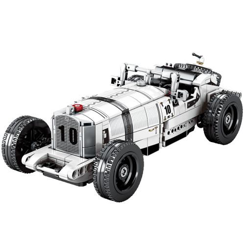 492Pcs MOC Retro Classic Vehicle Assembly Bricks Blocks