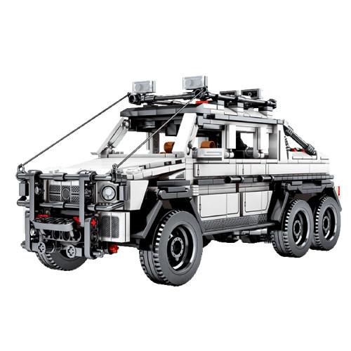 858Pcs Pull Back Car Bricks Off-road Vehicle Assembly Bricks Block