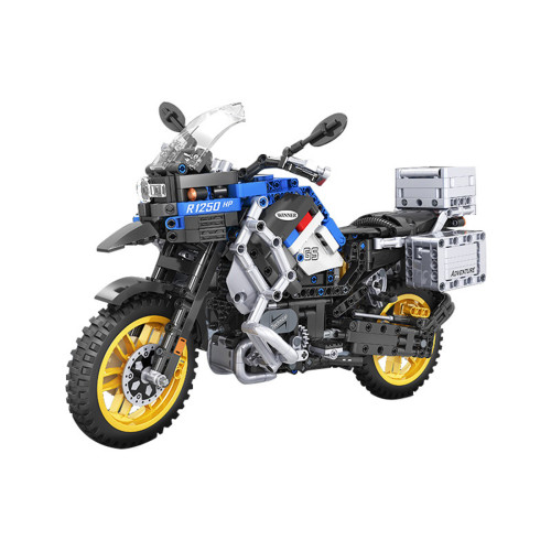 948Pcs 1:6  Assembly Adventure Motorcycle Building Blocks Bricks