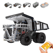 2044+Pcs Dual RC Engineering Vehicle Dump Truck Bricks Block