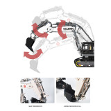 4342Pcs APP 2.4G Remote Control Excavator Engineering Vehicle Assembly Bricks Block