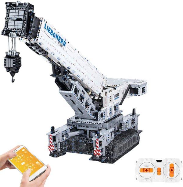 4000Pcs MOC 2.4G Multichannel APP RC Crawler Crane 11200 Assembly Bricks Block