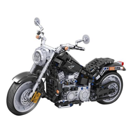 800Pcs Off-road Motorcycle Assembly Brick Blocks