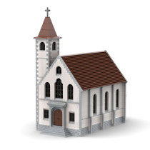 7517Pcs MOC-34956 High Reduction Modern-style Church Architectural Bricks Model Building Block Kits (Licensed and Designed by Jepaz)