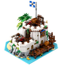 1451Pcs Imperial Fortified Outpost MOC-79638 Castle Building Blocks Model Kits Compatible with Pirates of Barracuda Bay 21322 (Licensed and Designed by llucky)