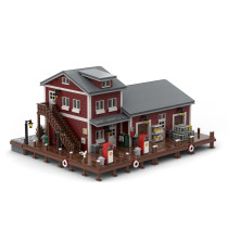 5635Pcs Dockside Fuel and Oil MOC-54693 Model Kits Building Blocks Compatible with 21310 Fisherman's Hut (Licensed and Designed by Jepaz)