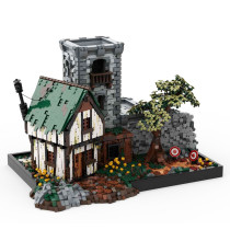 5470Pcs MOC-80571 Training Ground Medieval Style Building Block Bricks Kits (Licensed and Designed by PeetersKevin)