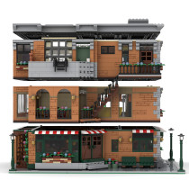 4642Pcs Friends Apartment MOC-79570 DIY Building Blocks Toy (Licensed and Designed by LegoArtisan)