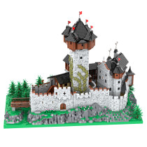 15539Pcs MOC-65340 European Street View Large Old Castle Gothic Architectural Bricks Model Building Block Kits (Licensed and Designed by PeppePell)
