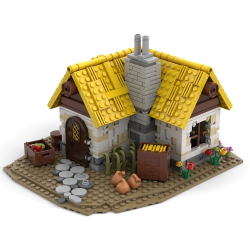 1025Pcs Medieval Farmhouse MOC-58003 Building Blocks MOC Model Kits Assembly Toys (Licensed and Designed by Noggels, Compatible with 21325)