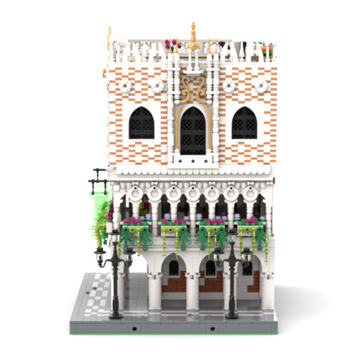 4993Pcs MOC-59639 Doges Palace Venice Street View Building Block Stem Toys (Licensed and Designed by Cvanhulle)