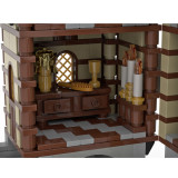 5110+Pcs MOC-36658 Medieval Stone Castle Model Kits Small Particles Building Blocks Toy (This Product is not manufactured or sold by Lego, and have no connection with Lego)