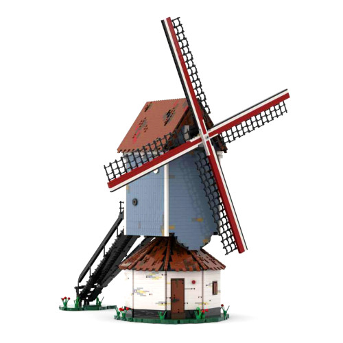 4366Pcs Bouwel WindMill MOC-79791 Creative Dutch Windmill Building Blocks Toy Kits (Licensed and Designed by Peeters Kevin)