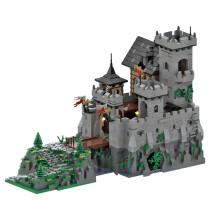 5110+Pcs MOC-36658 Medieval Stone Castle Model Kits Small Particles Building Blocks Toy