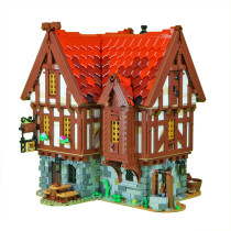 2951Pcs MOC-72838 Medieval Tavern Small Particle DIY Building Blocks Kit Compatible with Medieval Blacksmith 21325(Licensed and Designed by Versteinert)