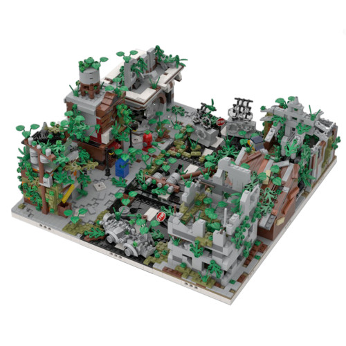3645Pcs Ruined City Bricks Small Particle DIY Building Block Stem Toy (Designed by Gabizon and authorized number is MOC-32889 )