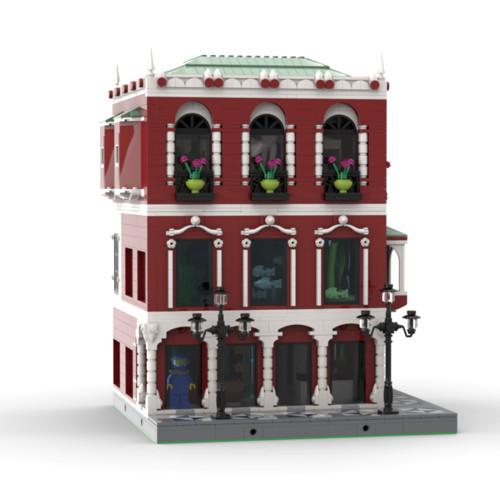 3586Pcs MOC-65384 iSea Aquarium - Dive Center Palace Venice Street View Building Block Stem Toys (Licensed and Designed by Cvanhulle)