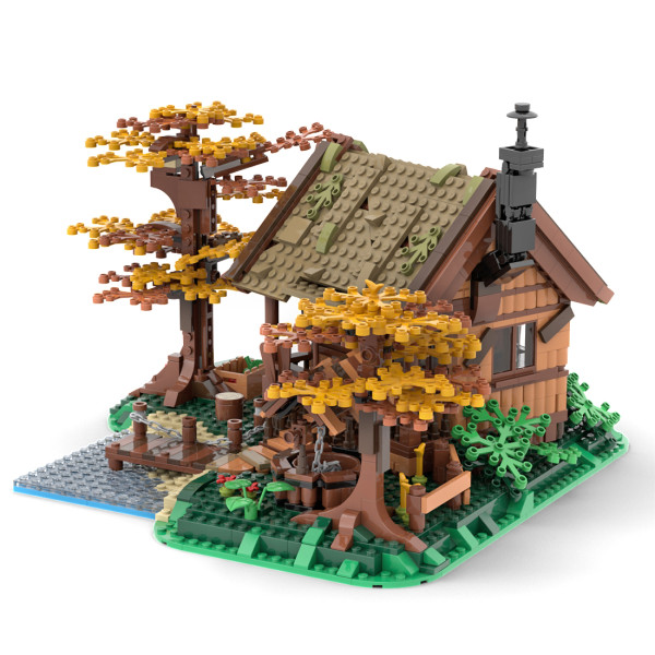 1371Pcs Country Style Street View Building Toys MOC-64694 Tree House Building Bricks Model Sets (Licensed and Designed by Gr33tje13)