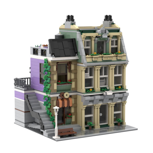 2373Pcs Crown Jewel MOC-72506 Modular Police Station Small Particles Building Blocks Toy (Licensed and Designed by Kim Artisan) Compatible with 10278 of the Famous Denmark Building Block Brand