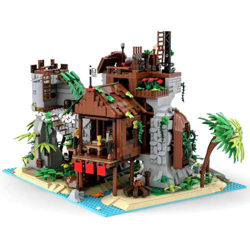 2979Pcs Forbidden Island MOC-77171 Building Blocks Model Kits Compatible with Pirates of Barracuda Bay 21322 (Licensed and Designed by llucky)