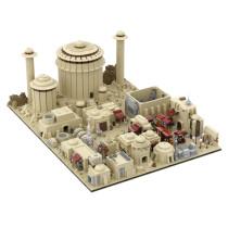 9585Pcs Custom MOC-56649 Modular Tatooine Tatooine City Build from 18 MOCs Space Wars Small Particle Model DIY Building Blocks (Licensed and Designed by Gabizon)
