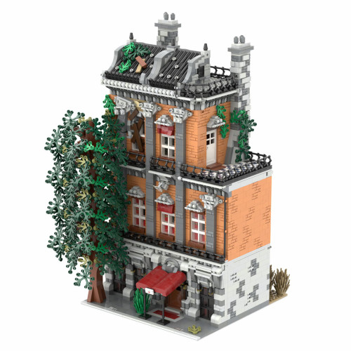 5286Pcs Old Town Hostel MOC-46504 Creative Street View Building Blocks Compatible with Other Brands Street View (Licensed and Designed by STEBRICK)