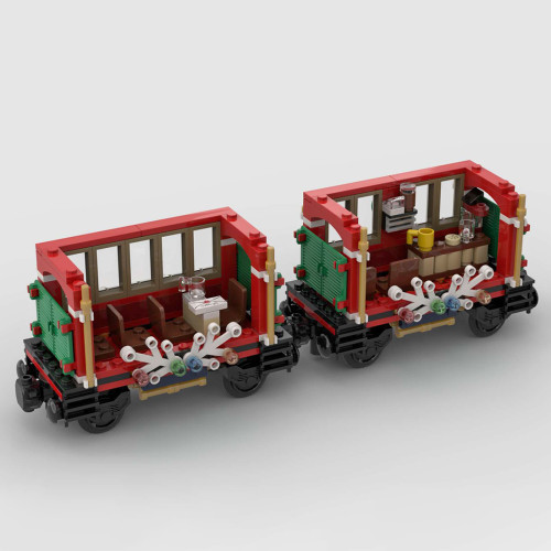 575Pcs 10254 Additional Carriages MOC-79236 Building Blocks MOC Model Kits Compatible with 10254 Train / 60197 / 10259 (Licensed and Designed by Little_Thomas)