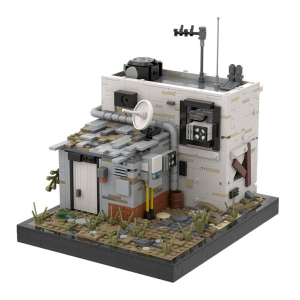 1350Pcs MOC Doomsday Series Wasteland Street View Model MOC-41419 Building Blocks Model (Designed and Licensed by Povladimir)