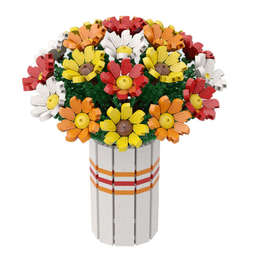 1963Pcs MOC-60822 Flowers Bouquet Bricks Small Particle DIY Building Blocks Kit (Licensed and Designed by Ben_Stephenson)