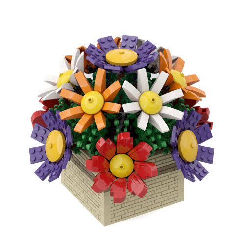 699Pcs Flower Bonsai Bouquet Building Blocks DIY Assembling Flower Toy (Licensed and Designed by Ben_Stephenson, compatible with 10280 10281 40460)
