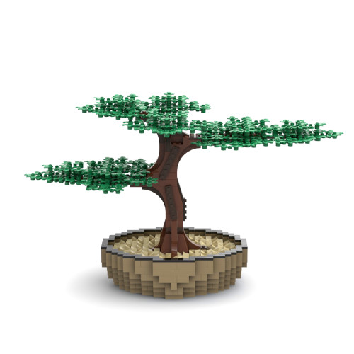 1008Pcs MOC Artificial Bonsai Tree Small Particle DIY Building Blocks Kit Compatible with 10281 10280 Bouquet Bonsai Set(Licensed and Designed by Ben_Stephenson)