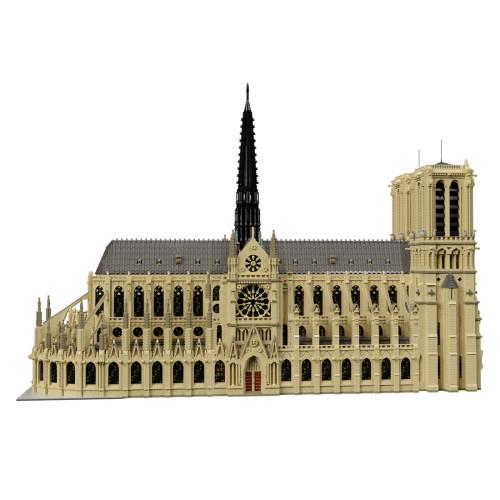63181Pcs MOC Notre Dame de Paris Modular Building Block Small Particle Model ( Licensed by STEBRICK di Stefano Mapelli and Designed by Stefano Mapelli )