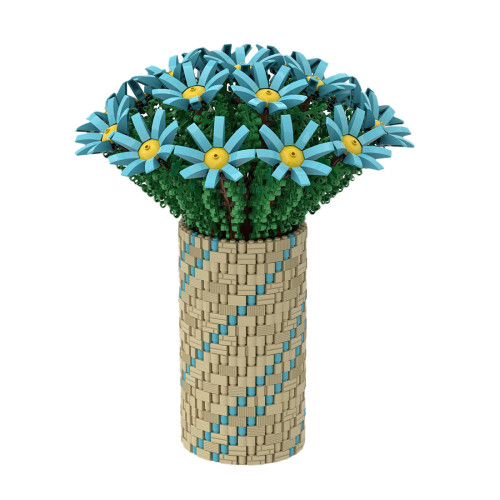 1852Pcs Azure Flowers Building Blocks DIY MOC Flowers Bricks Toy (Licensed and Designed by Ben_Stephenson)